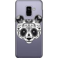 Cekuonline Samsung Galaxy A8 2018 Desenli Esnek Silikon Telefon Kapak Kılıf - PandaSS