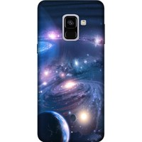 Cekuonline Samsung Galaxy A8 2018 Desenli Esnek Silikon Telefon Kapak Kılıf - Uzay Boşluğu