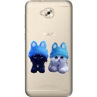 Cekuonline Asus Zenfone Live 5.5'' ZB553KL Desenli Esnek Silikon Telefon Kapak Kılıf - Sweet Kitten