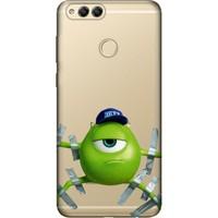Cekuonline Huawei Honor 7X Desenli Esnek Silikon Telefon Kapak Kılıf - Monster