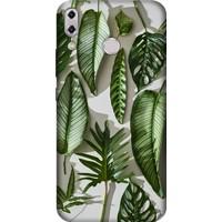 Cekuonline Asus Zenfone 4 ZE554KL Desenli Esnek Silikon Telefon Kapak Kılıf - 4D Yeşil Yapraklar