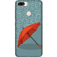 Cekuonline Asus Zenfone 4 Max ZC520KL 5.2'' Desenli Esnek Silikon Telefon Kapak Kılıf - Kırmızı Şemsiye