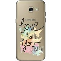 Cekuonline Samsung Galaxy A5 2017 Desenli Esnek Silikon Telefon Kapak Kılıf - Love is All