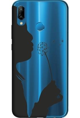 Cekuonline Huawei P20 Lite Desenli Esnek Silikon Telefon Kapak Kılıf - Polen