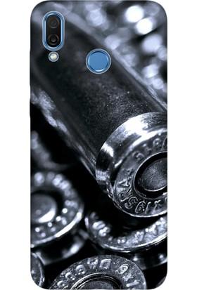 Cekuonline Huawei Honor Play Desenli Esnek Silikon Telefon Kapak Kılıf - Kurşun