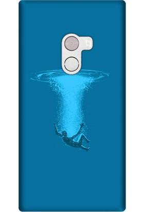 Cekuonline Xiaomi Mi Mix 2 Desenli Esnek Silikon Telefon Kapak Kılıf - Deep Sea