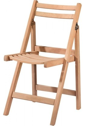 Evim Hİzmet 7138 Katlanır Sandalye Cilasız Ahşap
