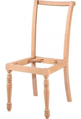 Evim Hizmet 7190 Giydirme Sandalye Tornalı Cilasız Ahşap