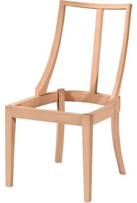 Evim Hizmet 7194 Dünya Sandalye Modern Cilasız Ahşap