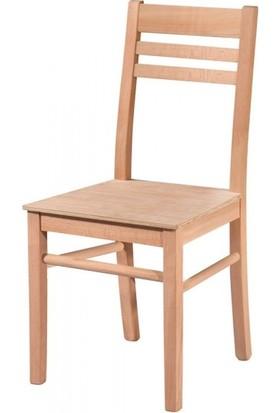 Evim Hizmet 7136 Izgaralı Düz Sandalye Cilasız Ahşap
