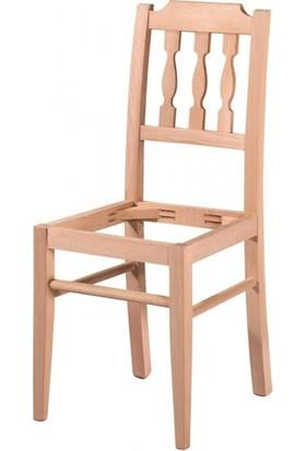 Evim Hizmet 7197 Izgaralı Döşemeli Sandalye Cilasız Ahşap