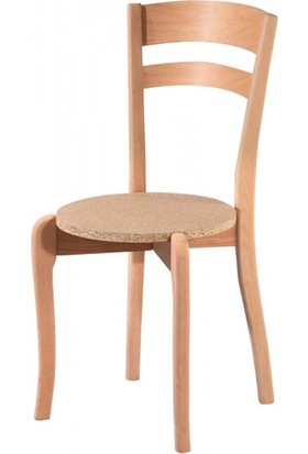 Evim Hizmet 7132 Çift Tepeli Sandalye Cilasız Ahşap