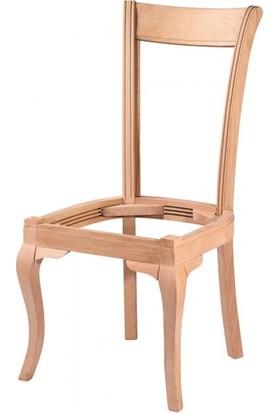 Evim Hizmet 7122 Rustik Düz Sandalye Cilasız Ahşap