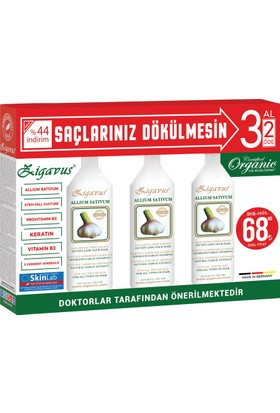 Zigavus Sarımsaklı Şampuan 250 Ml 3 Al 2 Öde Kofre Paket