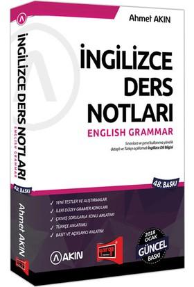 Akın Dil & Yargı Yayınevi 2018 YDS Grammar İngilizce Ders Notları 51. Baskı