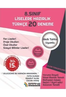 2019 Lgs Türkçe 20 Deneme - Fatih Duman