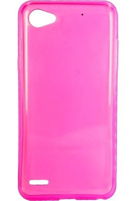 Case 4U LG Q6 Silikon Kılıf Pembe