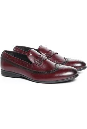 Cacharel C7005B-5 Bordo Erkek Deri Ayakkabı