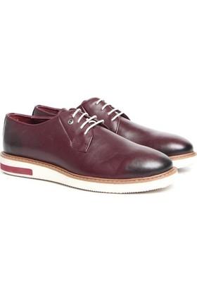 Pierre Cardin P63113D-5 Bordo Erkek Deri Ayakkabı