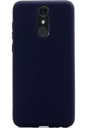 Gpack Lg Q7 Plus Kılıf Premier Esnek Lüx Silikon + Nano Glass