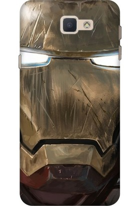 Cekuonline Samsung Galaxy J7 Prime (2) Desenli Esnek Silikon Telefon Kapak Kılıf - Iron Man Mix