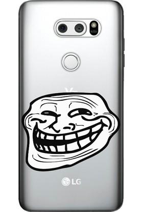 Cekuonline LG V30 Desenli Esnek Silikon Telefon Kapak Kılıf - Troll