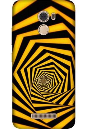 Cekuonline Casper Via P2 Desenli Esnek Silikon Telefon Kapak Kılıf - Sarı Siyah Tünel