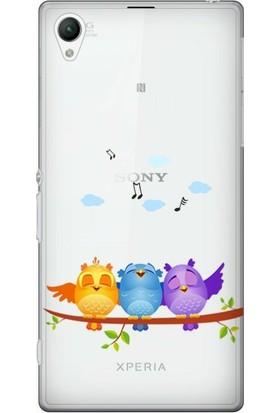 Cekuonline Sony Xperia Z2 Desenli Esnek Silikon Telefon Kapak Kılıf - Kuşlar