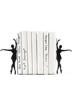 Simge Yapı Dekorasyon Bale Temalı Dans Eden Balerin Figürlü Dekoratif Metal Kitap Tutucu Kitap Desteği