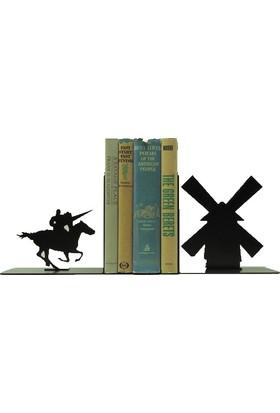 Simge Yapı Dekorasyon Yeldeğirmeni Temalı Dekoratif Metal Kitap Tutucu Kitap Desteği