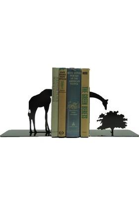 Simge Yapı Dekorasyon Zürafa Şeklinde Dekoratif Metal Kitap Tutucu Kitap Desteği