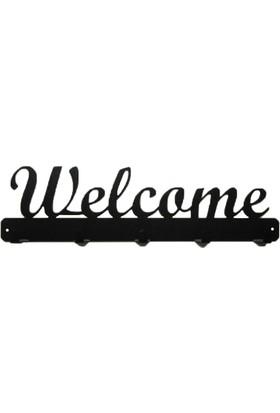 Simge Yapı Dekorasyon Welcome (Hoşgeldiniz) Yazı Figürlü Şık ve Dekoratif