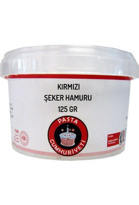 Pasta Cumhuriyeti Jelatinsiz Kırmızı Şeker Hamuru - 125 Gr