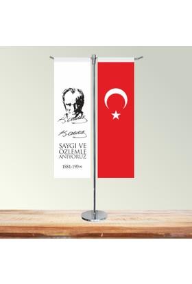 Özgüvenal 12 Kasım T Masa Bayrağı (Direkli) 9