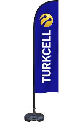 Özgüvenal Turkcell Yelken Bayrak Zeminli