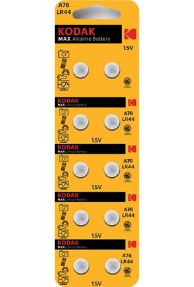 Kodak A76/LR44 Alkalin Düğme Pil - 10'lu Paket