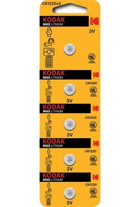 Kodak CR1220 Lityum Para Pil - 5'li Paket