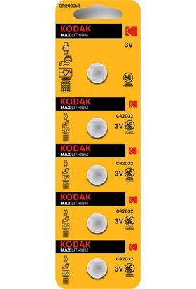 Kodak CR2032 Lityum Para Pil - 5'li Paket