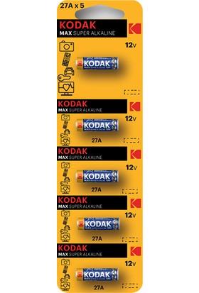 Kodak 27A 12V Ultra Alkalin Kumanda Pili - 5'li Paket