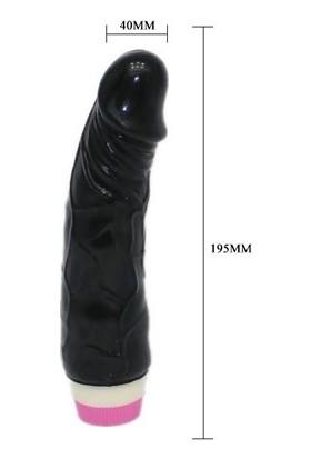 Baile Waves 20 cm Titreşimli Kalın Zenci Realistik Vibratör Penis