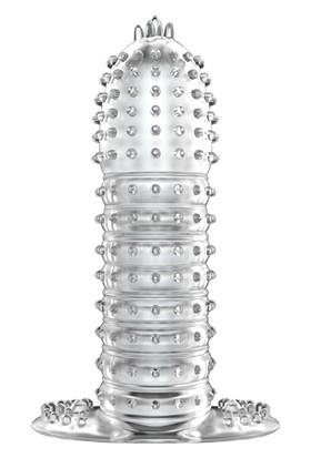 Baile Silikon Penis Kılıfı Uzatmalı Prezervatif Klitoris Temaslı Dildo