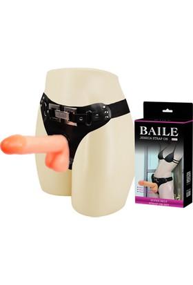Baile Harness 18 cm Belden Bağlamalı Penis Realistik Protez Strapon
