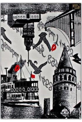 Era Popart Halı - Galata Kulesi