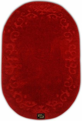 Era FEra Oval 140x200 cm Kaymaz Taban Halı - Kırmızı