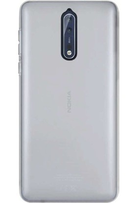TeknoArea Nokia 8 Ultra İnce Silikon Kapak 0.2 mm Transparan