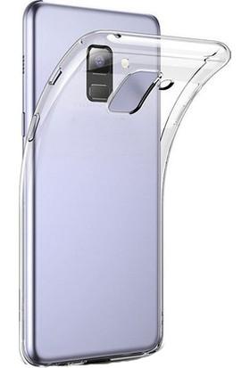 TeknoArea Galaxy A6 Plus 2018 Ultra İnce Silikon Kapak 0.2 mm