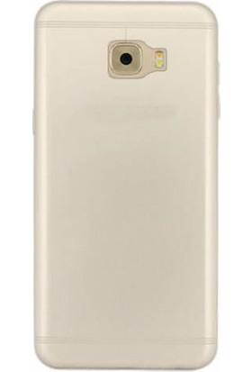 TeknoArea Samsung Galaxy C5 Kılıf Ultra ince Silikon Kapak 0.2 mm
