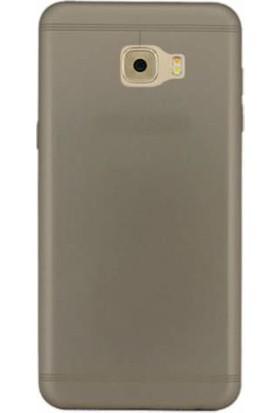 TeknoArea Samsung Galaxy C5 Ultra İnce Silikon Kapak 0.2 mm