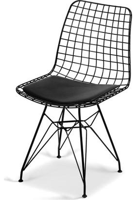 Kenzlife kafes tel sandalyesi dörtlü (4 lü) mazlum syh ofis cafe bahçe mutfak