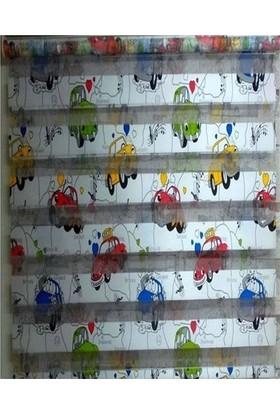 ZebraEvim Araba Desenli Çocuk Odası Zebra Perde